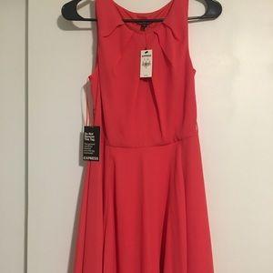 Express, coral dress, NEVER WORN